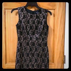Tahari Women's Metallic Lace Sheath Dress